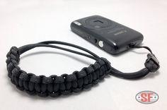 Paracord Survival P Camera Wrist Strap Cobra Weave.