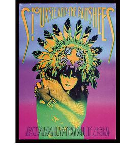 Siouxsie  The Banshees - Victor Moscoso - 1986
