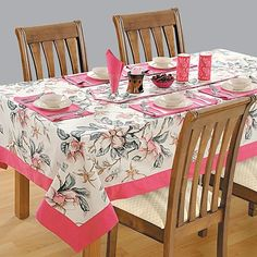 Clematis Printed Rectangular Table Linen- 3537