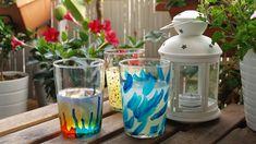 DIY DECORACIÓN | Vasos personalizados - cómo pintar cristal