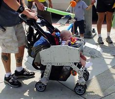 The AT-AT Baby Stroller is Perfect For the Nerd Parent #DIY trendhunter.com