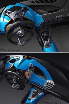 Julien Montousse의 폭스바겐 인테리어 디자인입니다 일반적인 승용차는 아닌듯 하며 경주용 포뮬러 머신의 인테리어 같습니다
