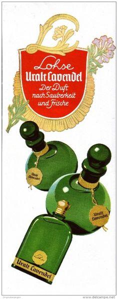 Original-Werbung/ Anzeige 1941 - VIERFARBANZEIGE : LOHSE URALT LAVENDEL - ca. 100 x 280 mm