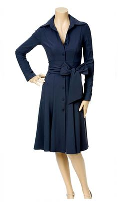 Navy dress for <b>pear shaped body</b>