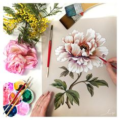 More traditional floral painting magic straight to you from our studio.