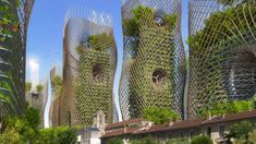 "Image 11 of 19 from gallery of Vincent Callebaut's 2050 Vision of Paris as a ""Smart City"". Bamboo Nest Towers from street level. Image Courtesy of Vincent Callebaut Architecture Architecture Design, Architecture Art Nouveau, Green Architecture, Concept Architecture, Futuristic Architecture, Sustainable Architecture, Amazing Architecture, Interactive Architecture, Architecture Definition"
