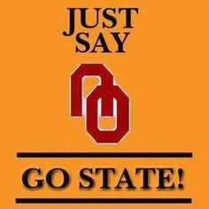 Oklahoma State! This was too cute.