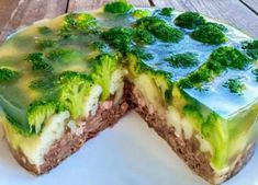 Meat jelly cake with vegetables is unrealistically tasty. Meat Cake, Meat Recipes, Cooking Recipes, Cooking Rice, Bulgarian Recipes, Cooking Pumpkin, Healthy Summer Recipes, Scallop Recipes, Food Menu
