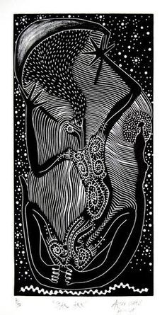 The diversity and quality of Australian Indigenous art reflects the richness and deep heritage of Indigenous culture and the distinct differences Indigenous Australian Art, Indigenous Art, Linocut Prints, Art Prints, Kunst Der Aborigines, Aboriginal Artwork, Black And White Artwork, Science Art, City Art