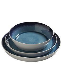 blue ceramic dinnerware