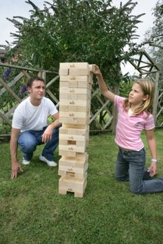 Giant Tower Building Blocks Garden Game - great fun for Children or adult parties..