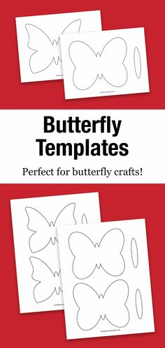 Our free printable butterfly template is perfect for butterfly crafts including suncatchers, simple paper crafts, painting, and more! Summer Arts And Crafts, Crafts For Kids To Make, Spring Crafts, Kid Crafts, Preschool Crafts, Preschool Printables, Butterfly Outline, Rainbow Butterfly, Butterfly Crafts