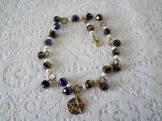 Pentacle Anklet wiccan jewelry pagan jewelry wicca by Sheekydoodle, $19.99