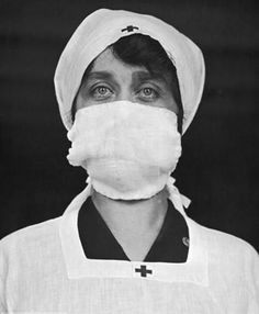 Masks were considered de rigeur, especially for Red Cross and other healthcare workers. 1918.