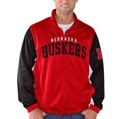 Nebraska Cornhuskers G-III Sports by Carl Banks Wild Card Track Jacket - Scarlet