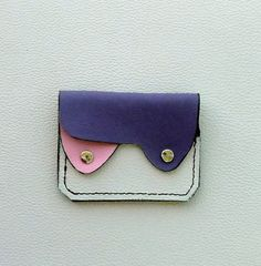Leather Wallet Coin Purse Card Case Small door ExpressionsInLeather