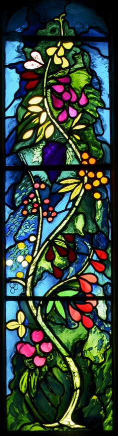Betjeman window detail - Tree of Life - a window designed by John Piper and translated into glass by Patrick Reyntiens