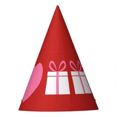 I love gifts party hat - birthday gifts party celebration custom gift ideas diy