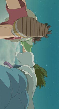 Cartoon Wallpaper, Wallpaper Backgrounds, Iphone Wallpaper, Studio Ghibli Art, Studio Ghibli Movies, Studio Ghibli Background, Chihiro Y Haku, Arte Obscura, Spirited Away