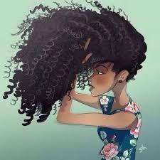 Resultado de imagem para menina cabelo cacheado desenho