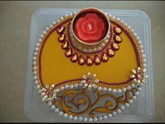 Thali Decoration Ideas, Diy Diwali Decorations, Diya Designs, Diwali Diya, Marriage Decoration, Indian Festivals, Candle Holders, Creativity, Candles