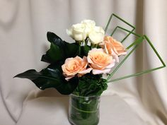 Rose aukland Pur parfum white バラ オレンジ 白 ホワイト オークランド  ピュールパルファン オオタニワタリ フトイ アンスリウム Spleenwort anthurium Soft stem bulrush