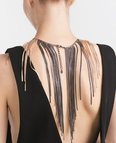 Image 2 of TWO-TONE SHORT AND LONG CHAIN NECKLACE from Zara