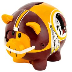 Shop for Forever Collectibles NFL Washington Redskins Thematic Resin Piggy Bank. Get free delivery On EVERYTHING* Overstock - Your Online Collectibles Outlet Store! Washington Redskins, Nfl, Large Piggy Bank, Pig Bank, Fedex Field, Redskins Fans, Sports Games For Kids, Nfc East, Nba Store