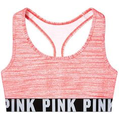 PINK Cotton Bra Top ($23) ❤ liked on Polyvore featuring underwear, tops, bras and intimates