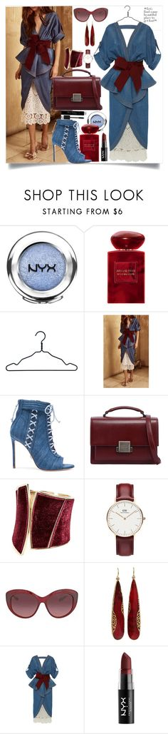 """Out of the charts"" by st-edmundcollege ❤ liked on Polyvore featuring NYX, Giorgio Armani, Nomess, Johanna Ortiz, Oscar Tiye, Yves Saint Laurent, GUESS by Marciano, Daniel Wellington, Coach and Yossi Harari"