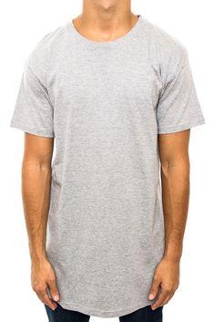 Tall Tee - Extra Long Mens Tees Shirt T-Shirt Length Fashion Branded black white #BasicTee
