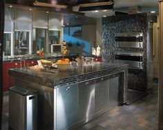 """this kitchen too (from the movie """"mr. and mrs. smith"""").  not really my style (too contemporary) but beautiful nonetheless"""