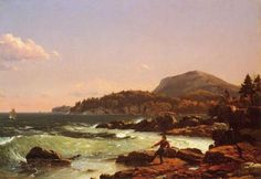 Frederic Edwin Church -  View of Newport Mountain, Mount Desert  1851