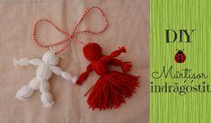 Tutorial: mărțișor îndrăgostit Yarn Dolls, Fringes, Quilling, Tassels, Christmas Crafts, Handmade, Craft, Dressmaking, March
