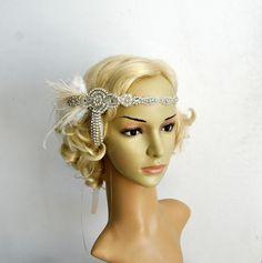 Der große Gatsby 20 Elfenbein Strass Perlen von BlueSkyHorizons