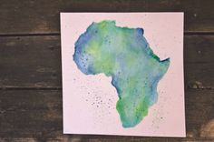 A personal favorite from my Etsy shop https://www.etsy.com/listing/231760489/africa-watercolor-handpainted