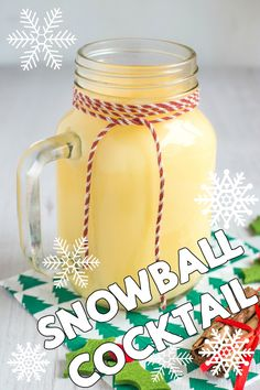 Snowball cocktail - just three ingredients! This rich and creamy cocktail is perfect for Christmas day.