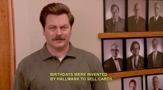Don't give in to celebrating anything that's not America's birthday. | 27 Ways To Be As American As Ron Swanson