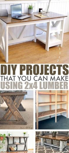 There's so much you can do in your home with just some simple lumber and a little creativity! Check out these 2x4 DIY projects for inspiration!