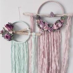 Large Dried Flowers Dreamcatcher Boho Dream by MeadowandMoss Fun Crafts, Diy And Crafts, Arts And Crafts, Paper Lace, Dream Catcher Boho, Wedding Art, Hanging Art, Bohemian Decor, Sewing Crafts