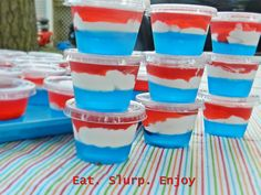 4th of July Jell-O shots
