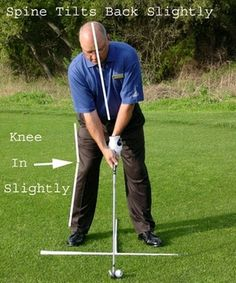 Getting a Great Golf Stance, Step-by-Step: Posture - Face View #GolfTipsRUs