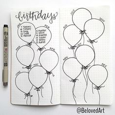 Love this balloon birthday calender from belovedart