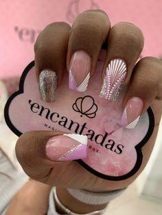 Classy Nail Designs, Toe Nail Designs, Purple And Pink Nails, Classy Nails, Nail Decorations, Gorgeous Nails, Toe Nails, Beauty Nails, Summer Nails