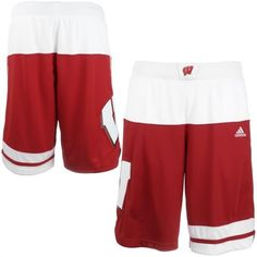 25b58cef74c adidas Wisconsin Badgers 2015 March Madness Basketball Shorts Milwaukee  Bucks