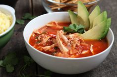 Chicken Tortilla Soup Recipe - poblano peppers, fresh cilantro, tangy lime and warm spices come together to make this belly warming soup a f...