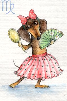 Dachshund – Friendly and Curious Dachshund Funny, Dachshund Art, Dachshund Gifts, Dachshund Puppies, Weenie Dogs, Delphine, Scottish Terrier, Dog Art, Dog Love
