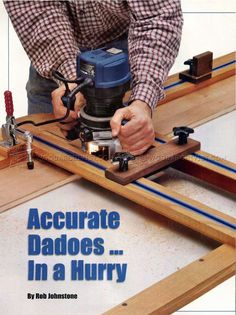 Dado Router Jig Plans - Joinery