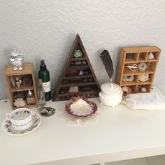 be-witch-ery:  Was able to set up (most of) my altar today! I've had it packed up for about 3 weeks. Happy to have it back.  #bewitchery #al...