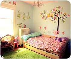 Girly Woodland Bedroom
